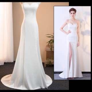 Evening wedding party dress
