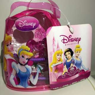 Disney Hair Set For Kids With Cutie Little Transparent Bag 全新公主系列頭飾