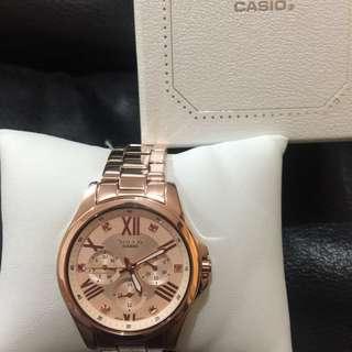 【CASIO】SHEEN系列 施華洛世奇晶鑽錶