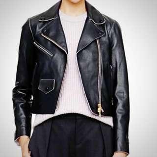 *price drop*Club Monaco Crop Moto Leather Jacket