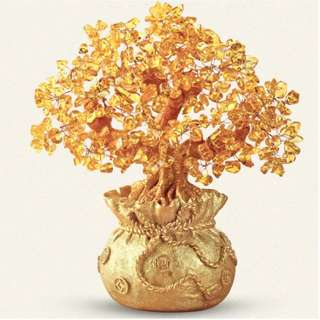 Brand New Instock Feng Shui Display - Golden Blooming Tree