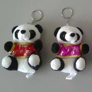 Panda soft toy keychain from Chengdu (new)