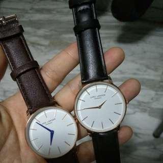 🚚 Lars larsen denmark leather dress watch