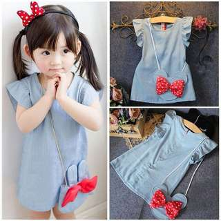 DRESS @ BLOUSE + BEG COMEL