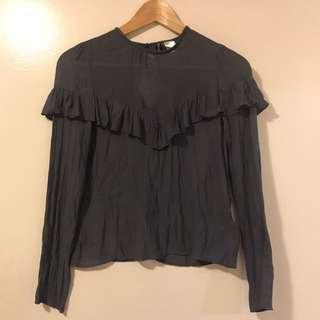Brand new h&m ruffle shirt