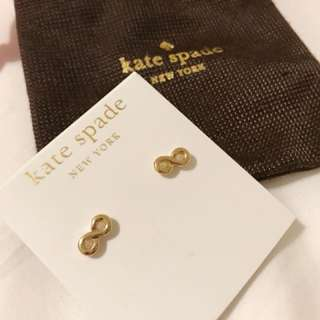 BRAND NEW** KATE SPADE Kiss a Prince Infinity Gold Studs