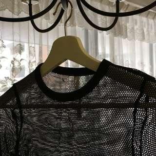 Black Mesh Shirt