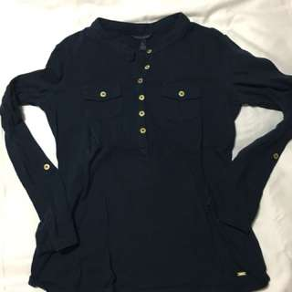Tommy Hilfiger navy blue long sleeve