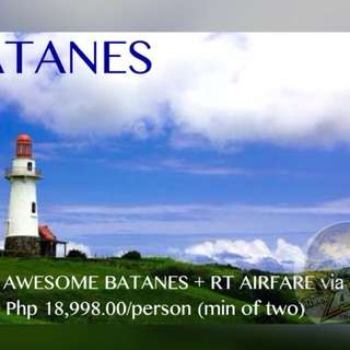 3D2N BATANES + RT AIRFARE VIA PAL