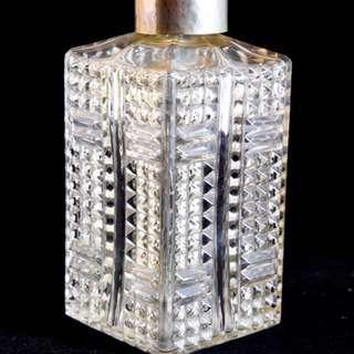 保留!早期二戰古董級捷克波希米亞玻璃精美雕刻Decanter醒酒瓶\洋酒瓶