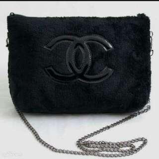 Authentic Chanel VIP Precision Velour chain bag