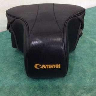 Canon 單眼相機皮套 真皮 古董 日本製