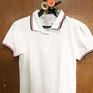 White Polo shirt w/ collar design