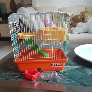 Small Hamster Cage in good condition with accessories