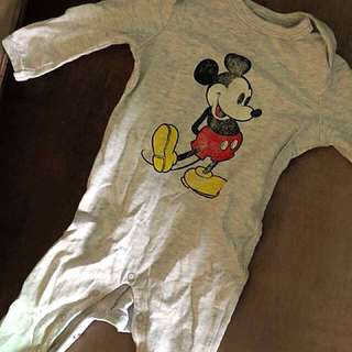 Baby Mickey Mouse overall