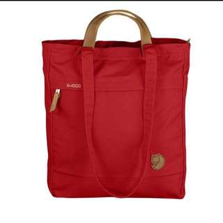 Fjallraven Kanken Numbers / Totepack No. 1 Red (Bag Backpack Tote)