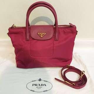 Prada Tessuto Nylon Saffiano Tote Bag BN2106