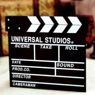 Movie props blackboard director board