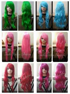 Chest length cosplay wigs
