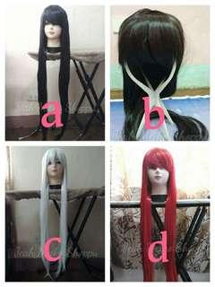 Butt length cosplay wigs