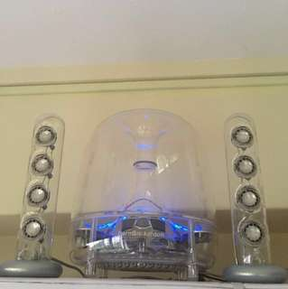 Harman Kardon Soundsticks II with Belkin Bluetooth Receiver