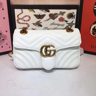 Gucci Marmont Matelasse Shoulder Chain Bag