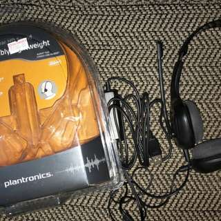 Plantronics Headset and Bluetooth Mouse