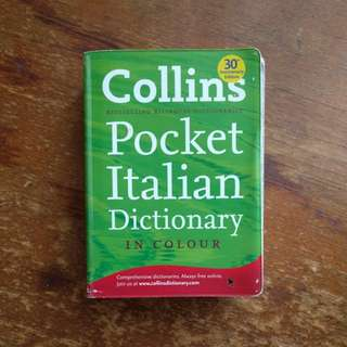 Collins Italian pocket dictionary