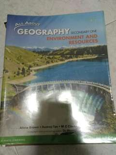 All About Geography Secondary One and Two Textbooks (Environment and Resources, Urban Living)