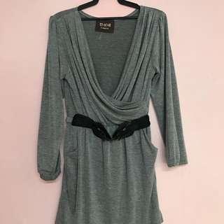 Mini Dress in Grey - M size