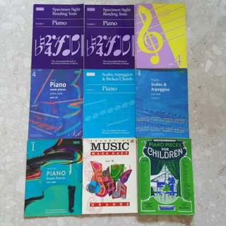 Grade 4 & 5 Piano Music Books Scores