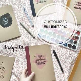 Customized Muji Notebooks