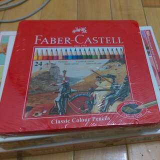 正品Faber-Castell 24色鉛筆