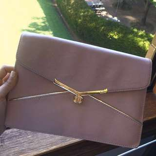 Kate Hill Wallet Envelope Dusty Pink Rose Shoulder Bag