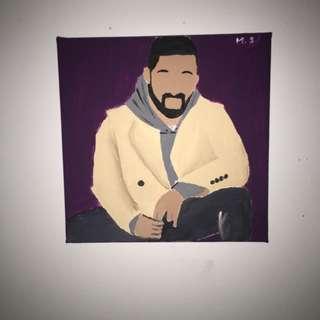 Drake Canvas Painting