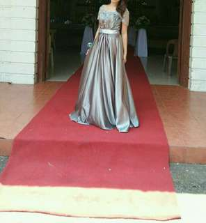 Repriced!!! Silver Long Gown