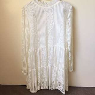 Elegant White Lace Dress