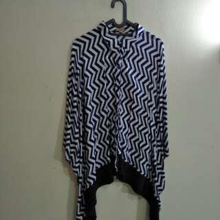 Kemeja Kimono Zigzag