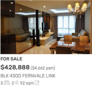 HDB 4 Room For Sale (Tastefully Done Up)