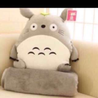 Xmas gift- Totoro modern design Blanket Cushion With handwarmer