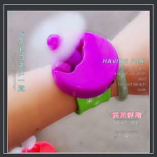 Mini wrist fan kids portable chargeable with USB (min. 20 pieces) - Paypal only, no pickup