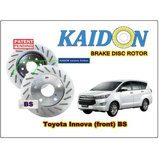 "Toyota Innova disc rotor KAIDON (front) type ""RS"" / ""BS"" spec"