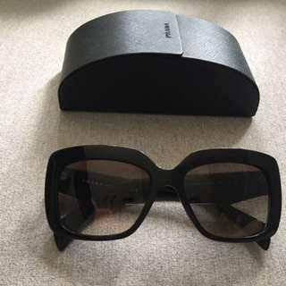 Prada black thick frame sunglasses
