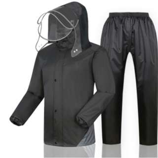 Motor Bicycle Cyclist Full Rain Coat Top and Bottom