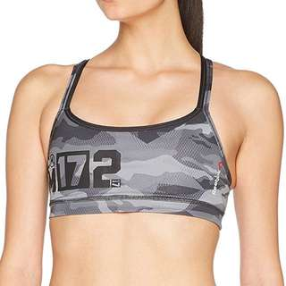 Reebok Hero Strappy Camo Sports Bra 2.0