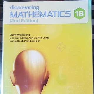 Almost New Sec 1 Maths Book