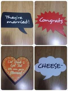結婚拍攝小道具 有二手有全新