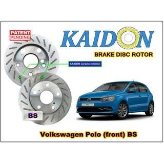 """Volkswagen POLO VENTO disc rotor KAIDON (front) type """"BS"""" / """"RS"""" spec"""