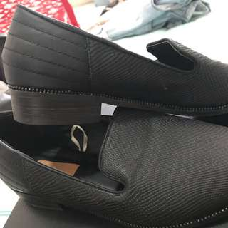 Rubi Shoes - Black Croc Print Flats