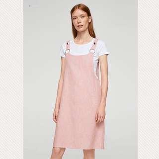🚚 Mango粉色吊帶連身裙